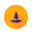 halloween witch hat flat icon vector image vector image