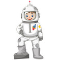 happy boy in spacesuit vector image vector image