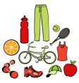healthy life style vector image vector image