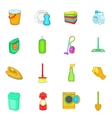 Household elements icons set cartoon style vector image vector image