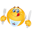 hungry emoticon vector image vector image