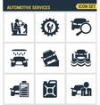 Icons set premium quality of automotive services vector image vector image