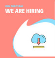 join our team busienss company cloud downloading vector image vector image