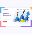 landing page design concept investment vector image vector image