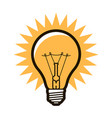 light bulb symbol electricity innovation idea vector image