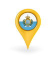 Location San Marino vector image vector image