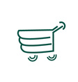Logo for shopping- abstract shopping cart vector image