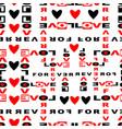 love slogan seamless print vector image