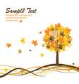 maple autumn background eps10 vector image vector image