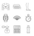 maquillage icons set outline style vector image vector image