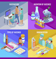 medical vaccination design concept vector image vector image