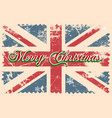 merry christmas lettering on a grunge board vector image vector image