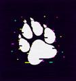 paw glitch10 vector image