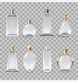 perfume bottles assortment realistic vector image vector image