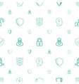 privacy icons pattern seamless white background vector image vector image