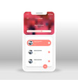 red magic music ui ux gui screen for mobile apps vector image vector image