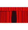 red realistic theater curtains opening velvet vector image