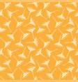 seamless pattern spaghetti white line on yellow vector image