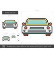sedan car line icon vector image vector image