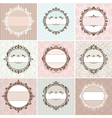 Set of vintage floral frames vector | Price: 1 Credit (USD $1)