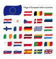 set the flags of european union countries vector image