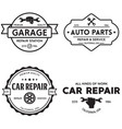 set vintage monochrome car repair service vector image vector image