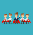 super team of business vector image vector image