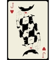 The girl in retro style Playing card vector image