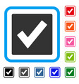 valid framed icon vector image vector image