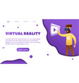 virtual reality web banner vector image vector image
