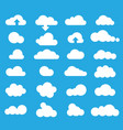 weather clouds icon set vector image
