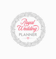 wedding planner logo design vector image