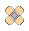 adhesive plaster linear icon vector image