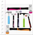 hammer with on paper vector image