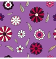 Floral doodle seamless pattern vector image
