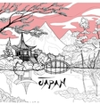 Japan Landscape Background vector image