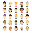 25 flat modern style hipster people vector image vector image