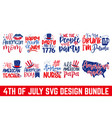 4th july svg united stated independence day cu vector image vector image