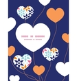 Abstract colorful stars heart symbol frame