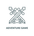 adventure game line icon outline concept vector image