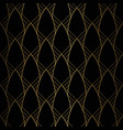 Art deco pattern seamless black and gold