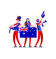 australian flag australia people vector image vector image