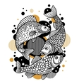 Background with decorative fish Image for design vector image