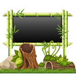 bamboo frame in the garden vector image vector image