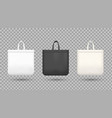 black and white shopping bags realistic vector image vector image
