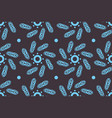 blue leaves and circles on brown background vector image