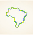 brazil - outline map vector image vector image