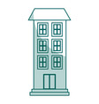 building exterior isolated icon vector image vector image