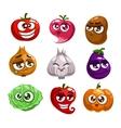 Cartoon vegetables characters vector image vector image