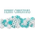 Christmas background with snowflakes ornament vector image vector image